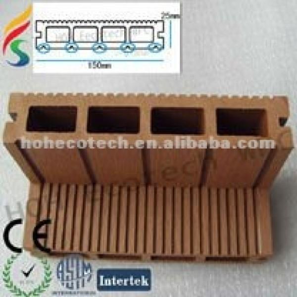 reciclado de plástico de madera suelo plank