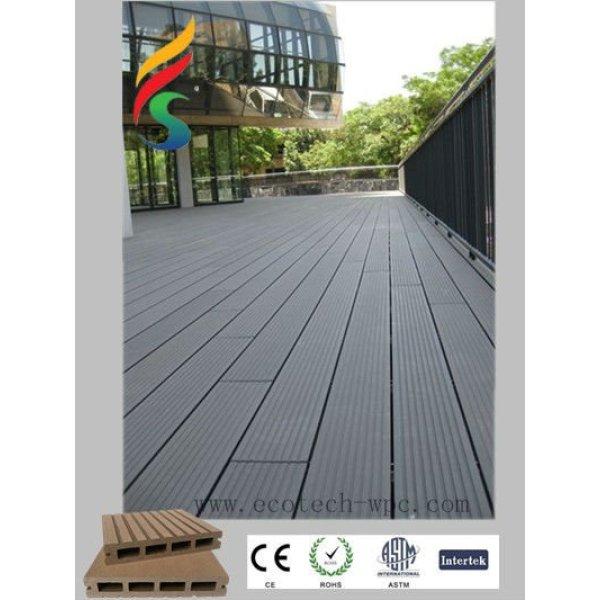 de plástico compuesto de piso con sistema de bloqueo