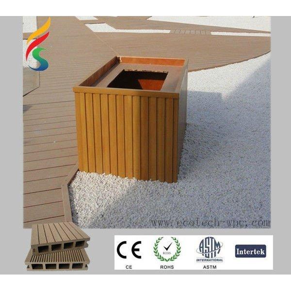 Hölzerner Decking-Fußboden des PlastikComposite/WPC