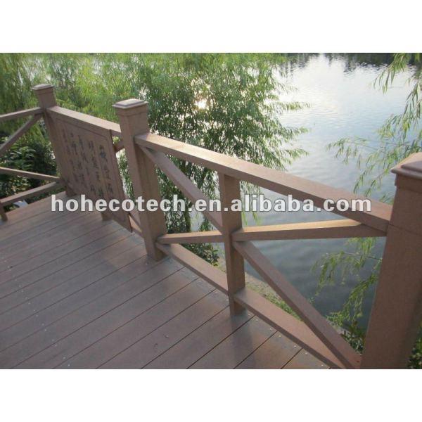 Compuesto plástico de madera al aire libre del wpc barandilla de guardia de los carriles/orilla del río barandilla