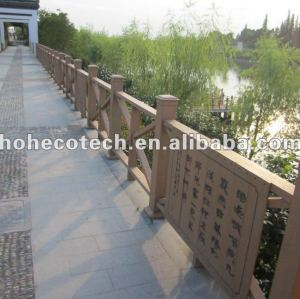Natural looking (Wood plastic composite) wpc composite stair railing/garden railing/playground railing