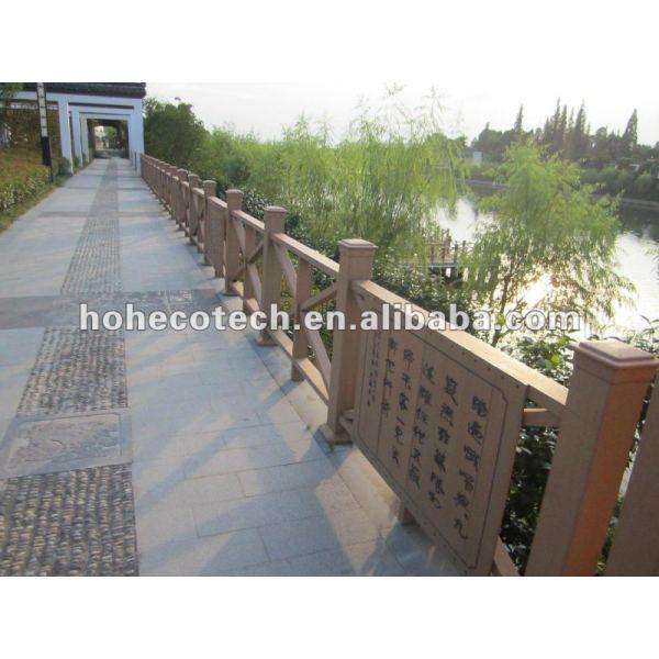 Pasamano compuesto de mirada natural de la escalera del wpc (del compuesto plástico de madera)/pasamano del jardín/pasamano del patio