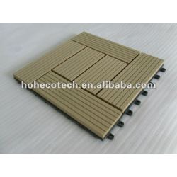 Wood plastic composite deck telha