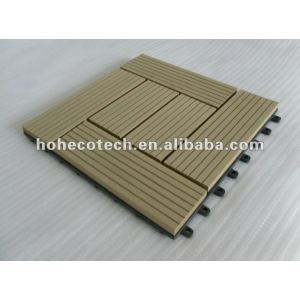Wood plastic composite deck telha