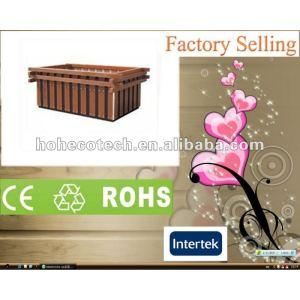 Fora decoração eco - friendly wpc jardim flor caixa/vasos de flor ( ce rohs )