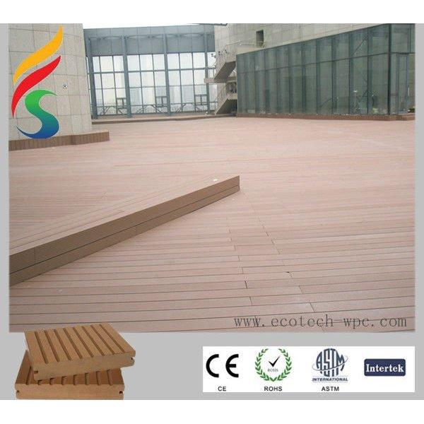 Wpc suelo, madera - piso compuesto de plástico, suelo exterior