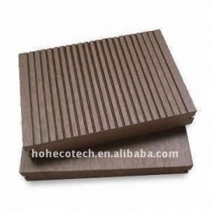 Decking composé en plastique en bois de composé de plancher de decking de wpc de Decking