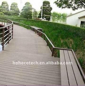 Le decking composé en plastique en bois de wpc de decking de bâtiment de villa/barre couvre de tuiles le plastique en plastique composé de composé de decking