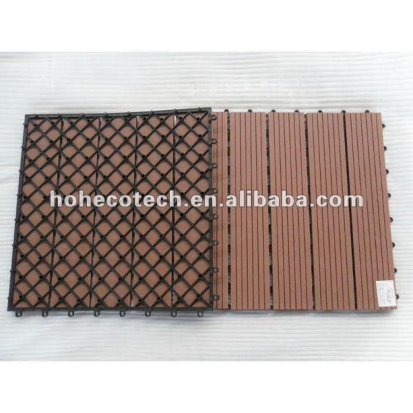 Terrazas/azulejo de piso eco - ambiente de madera compuesto de plástico