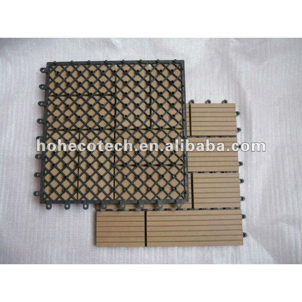 Hölzerne zusammengesetzte Deckingfußbodenplastikfliesen/dekorative DIY Fliese-/bathroom-Fliese