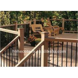 Pavimentazione esterno impermeabile wpc plastica wpc pavimenti/decking composito decking