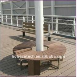 Decking de la construction WPC/plancher composés en plastique en bois imperméables à l'eau PUBLICS (CE, ROHS, ASTM, OIN 9001, OIN 14001, Intertek)