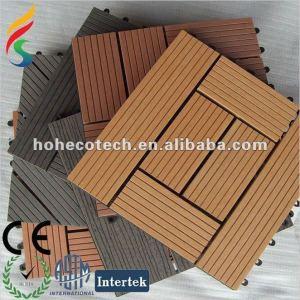 60% +35% madera de polietileno de alta densidad +5% aditivos químicos wpc decking azulejos de piso/diy azulejo//azulejo de cuarto de baño