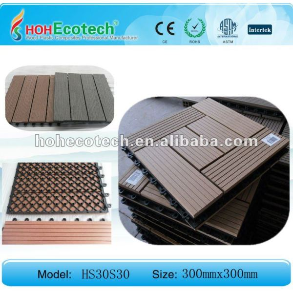 HOH Ecotech hölzerne Plastikfliese-/bathroom-Fliese des Decking tiles/DIY Bodenbelag der zusammensetzung WPC