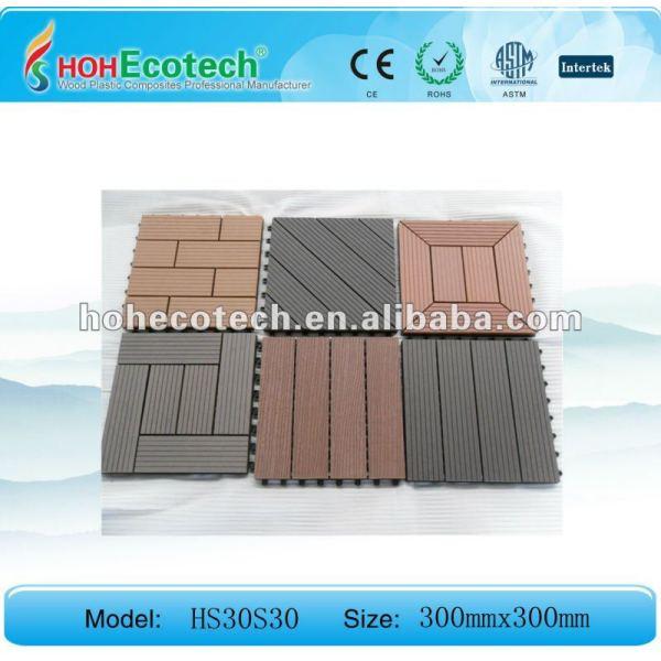 Fliese-/bathroom-Fliese des Huasu WPC zusammengesetzte Bodenbelag Decking tiles/DIY/Saunabrett