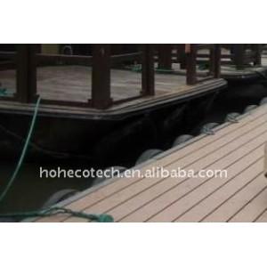 Suelo al aire libre a prueba de agua de plástico wpc wpc suelo/decking compuesto cubiertas