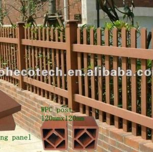 Wood plastic composite outdoor wall fence wpc fence/fencing outdoor wall fence