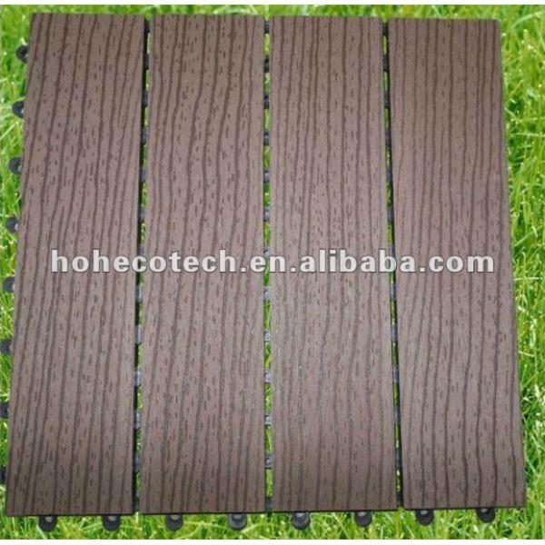 Compuesto plástico de madera respetuoso del medio ambiente del azulejo del Decking/de piso