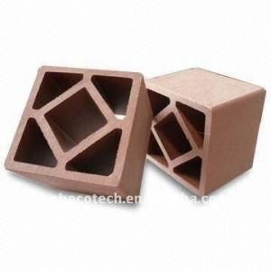 120*120mm personalizado - longitud de la cubierta de barandilla/pasamanos de la escalera de madera y plástico materiales compuestos de esgrima