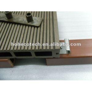 150x25mm con accesorries compuesto de madera de madera al aire libre para/decoración pública decking del wpc/wpc suelo compuesto de madera y madera