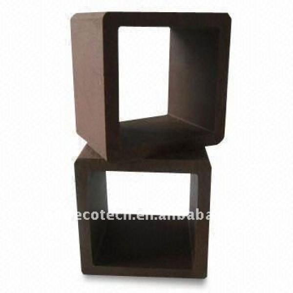 Estable 120*120mmz material más ligero hueco wpc diseño puente post barandilla wpc esgrima/barandilla