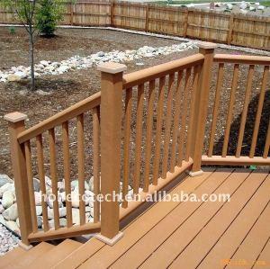 Public park/garden decoration WPC wood plastic composite fencing/railing