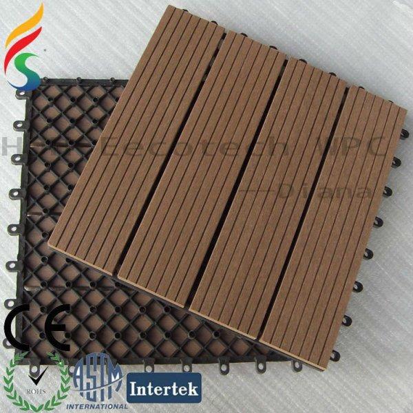 Eco- ambiente al aire libre compuesto plástico de madera wpc azulejos