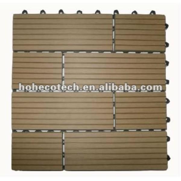 Azulejos compuestos plásticos de madera del decking para el jardín/el balcón /backyard/courtyard