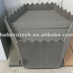 Hot sale! good design wood plastic composite flower box(with certificates)