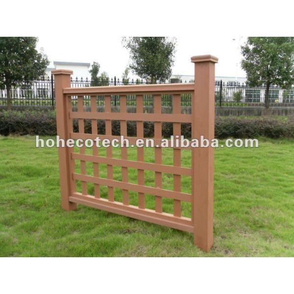 De aspecto natural ( compuesto plástico de madera ) compuesto wpc barandilla de la escalera/jardín barandilla/barandilla de patio de recreo
