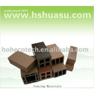Matériaux composés en plastique en bois extérieurs réutilisés de barrière de wpc