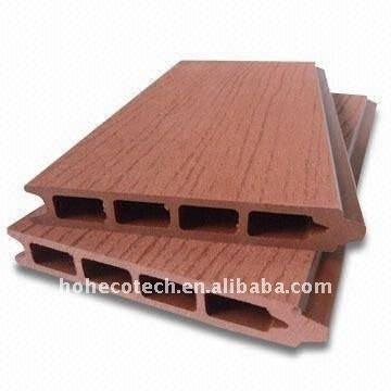 Decking composé en plastique en bois extérieur de ponçage de composé de decking de wpc de Decking