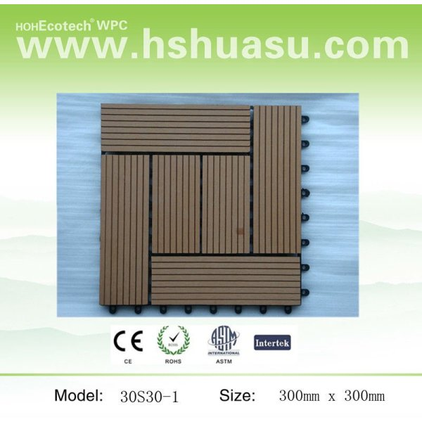bricolaje de madera del piso para uso al aire libre