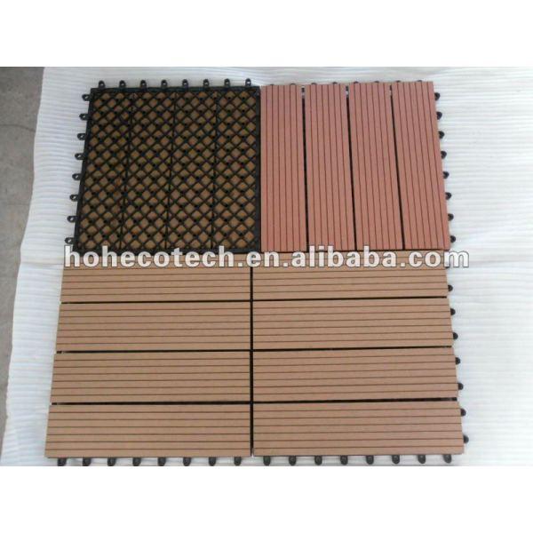 Umweltfreundliche hölzerne zusammengesetzte Decking-/Fußbodenplastikfliese