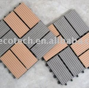 Tuiles de decking de Huasu WPC--DIY