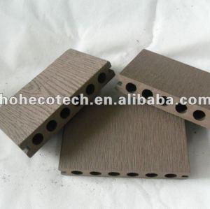 Decking du trou WPC de HOH Ecotech 138X23/carrelage composés en plastique en bois ronds extérieurs gravants en refief