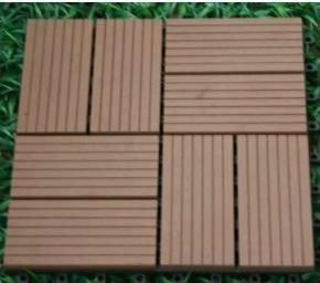 plate-forme extérieure de wpc de decking composé en plastique en bois de tuiles de decking de wpc de 300x300mm