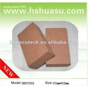 Durable caliente de la venta de madera de plástico compuesto de material de esgrima ( a prueba de agua, resistencia a rayos uv, resistencia a la pudrición y el crack )