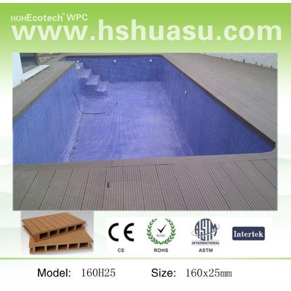 decking de côté de piscine, plancher de decking de wpc