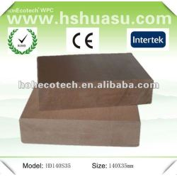 Huasu sólida popular ao ar livre de wpc wood plastic composite deck ( ce rohs iso9001 )