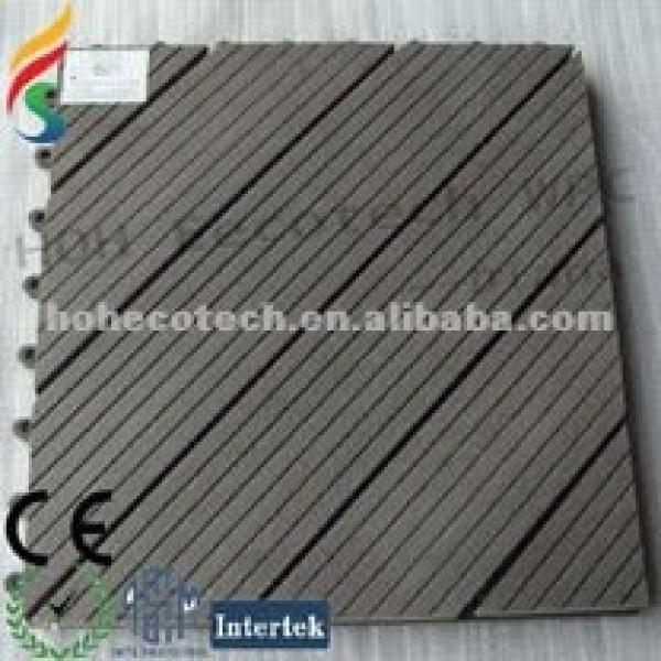 ecotech compuesto wpc decking de enclavamiento baldosas de los bordes