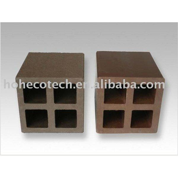 accessoire de clôture composé en plastique en bois de vente chaude durable (preuve de l'eau, résistance UV, résistance à se décomposer et fente)
