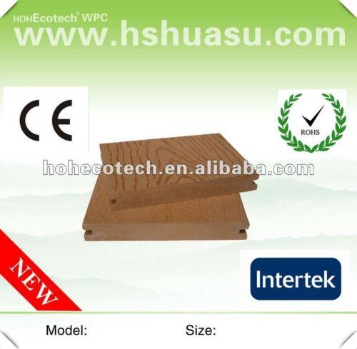 Plate-forme extérieure pleine populaire de wpc de Huasu (CE ROHS ISO9001)