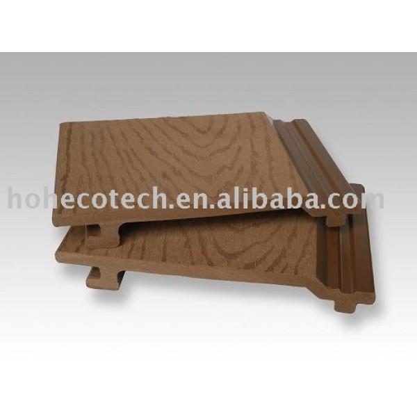 compuesto plástico de madera del panel de la pared