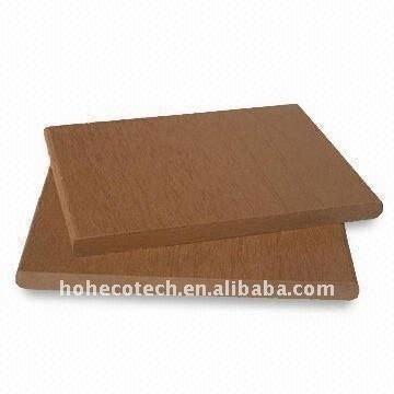 decking modèle mince de wpc de 135*9mm/Decking en bois de composé de panneau plancher de plancher