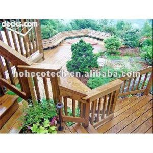 Agua - una prueba, la podredumbre y la resistencia de la grieta compuesto de escaleras de madera