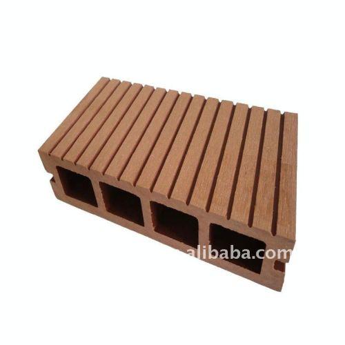 Le plancher/decking de WPC embarque le plancher en bambou de plancher extérieur imperméable à l'eau de wpc