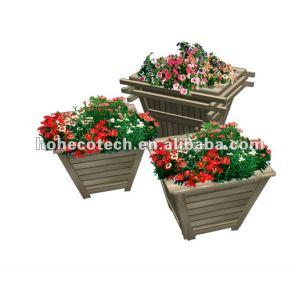Jardim plástico compósito de madeira caixa de flor