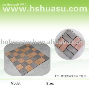 decking/carrelage composés en plastique en bois respectueux de l'environnement