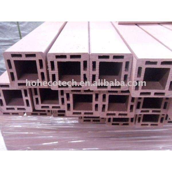 Más ligero diseño de madera - materiales compuestos de plástico post barandilla wpc mensaje wpc barandilla del cmp